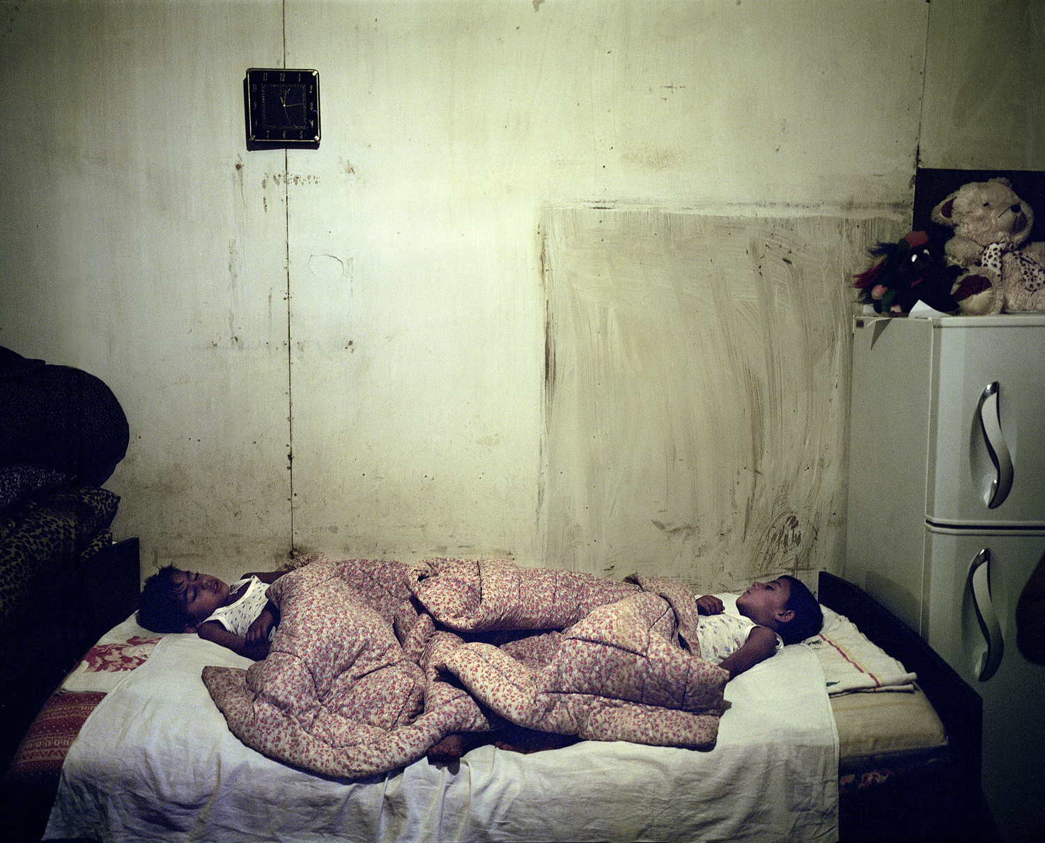 Twins sleeping in Vank.  Despite poverty, it is important to have children, and the government supports young families to help increase the population.