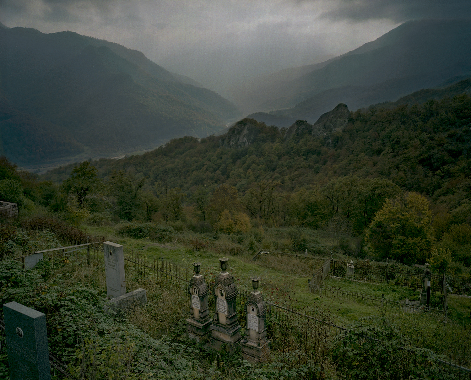 Gandzasar. Cemeteries are placed in central places because of the peoples' sad and stormy past. Folks visit almost every day the graves.